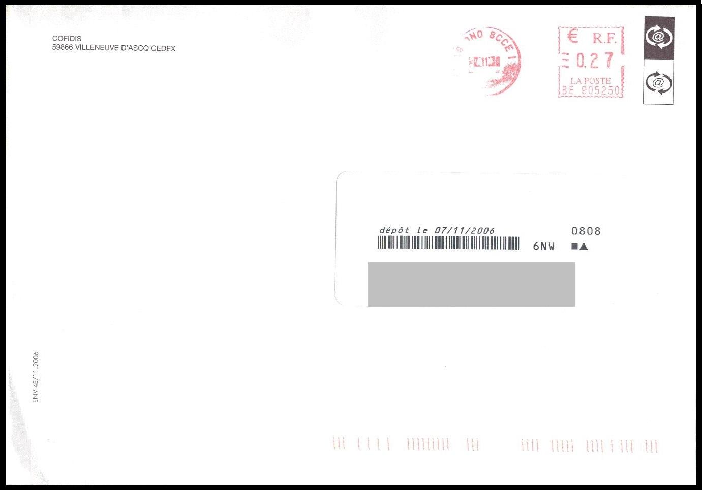 lettre non affranchie Annexe IIIf   Exemples de tarifs sur des plis lettre non affranchie